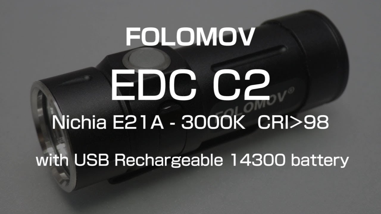 FOLOMOV EDC C1 v3 BRASS NICHIA E21A 98 CRI 3000K WARM WHITE 335 LUMENS USA