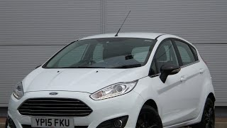 2015 15 Ford Fiesta 1.25 82ps Zetec 5dr in white