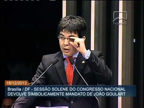 Sessão simbólica no Congresso Nacional devolve mandato do ex-presidente João Goulart