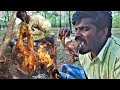 Roasted Chicken  in indian style- Primitive Cooking ASMR || Food Fun Village