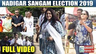 FULL VIDEO Nadigar Sangam Election 2019 | Karthi, Vishal,Surya,Arunpandian | CHENNAI EXPRESS