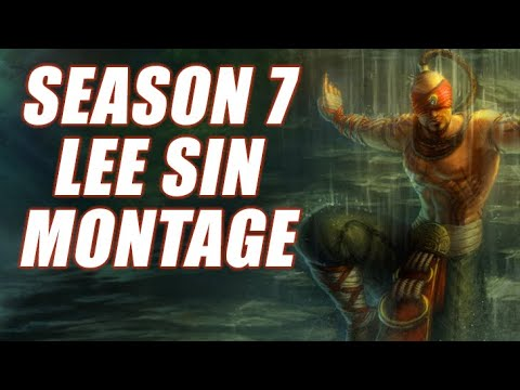 League of Legends: Season 7 Platinum Lee Sin Montage (Strategic Smith)