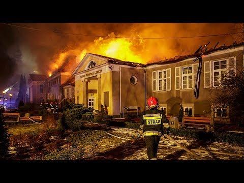 """Szczawno-Zdrój: porażająca skala zniszczeń po pożarze, """"Fakty"""" 05.03.2018"""