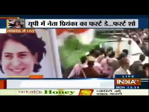 Priyanka Gandhi Vadra's Lucknow Roadshow Live Updates | Cong Leader Greeted By Huge Crowds