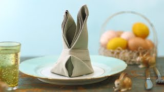 Napkin Bunny Fold - Martha Stewart