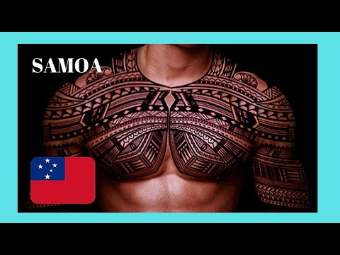 SAMOA, the art of tattooing in APIA (very rare video footage)