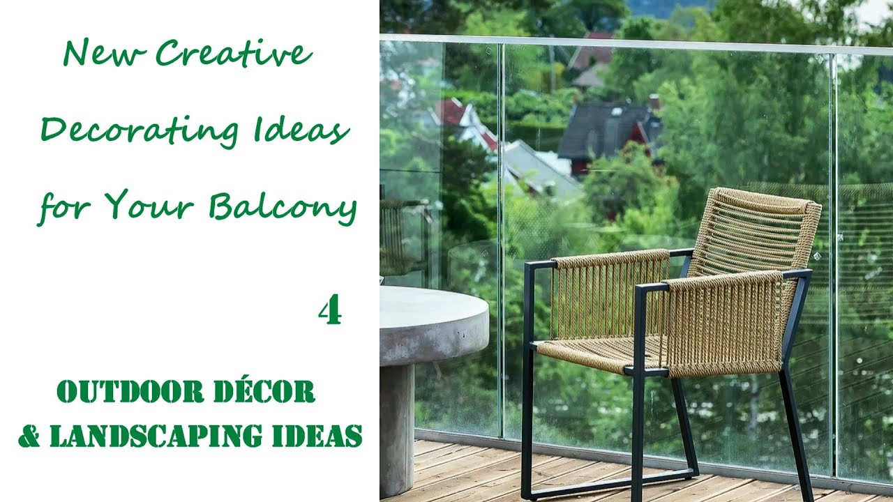 New Creative Decorating Ideas for Your Balcony
