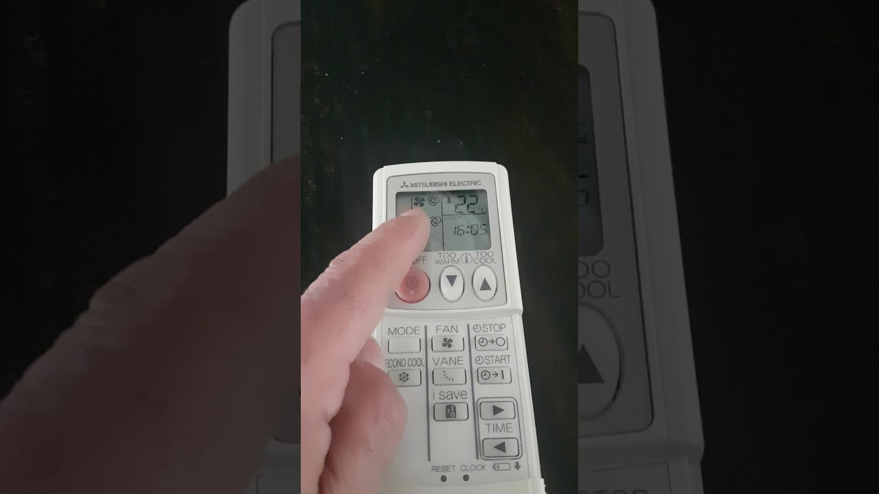 Mode de fonctionnement Télécommande Mitsubishi Electric