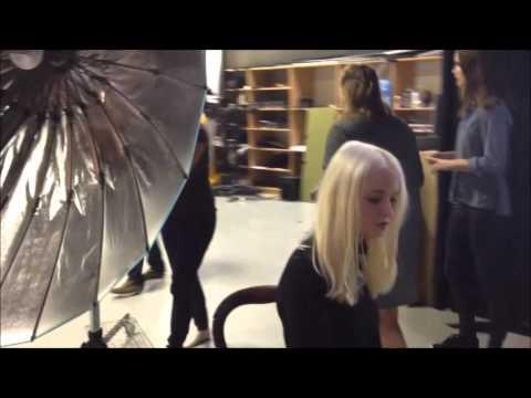 Foto-shoot med Cille Frost på KTS / Patrick Spycher