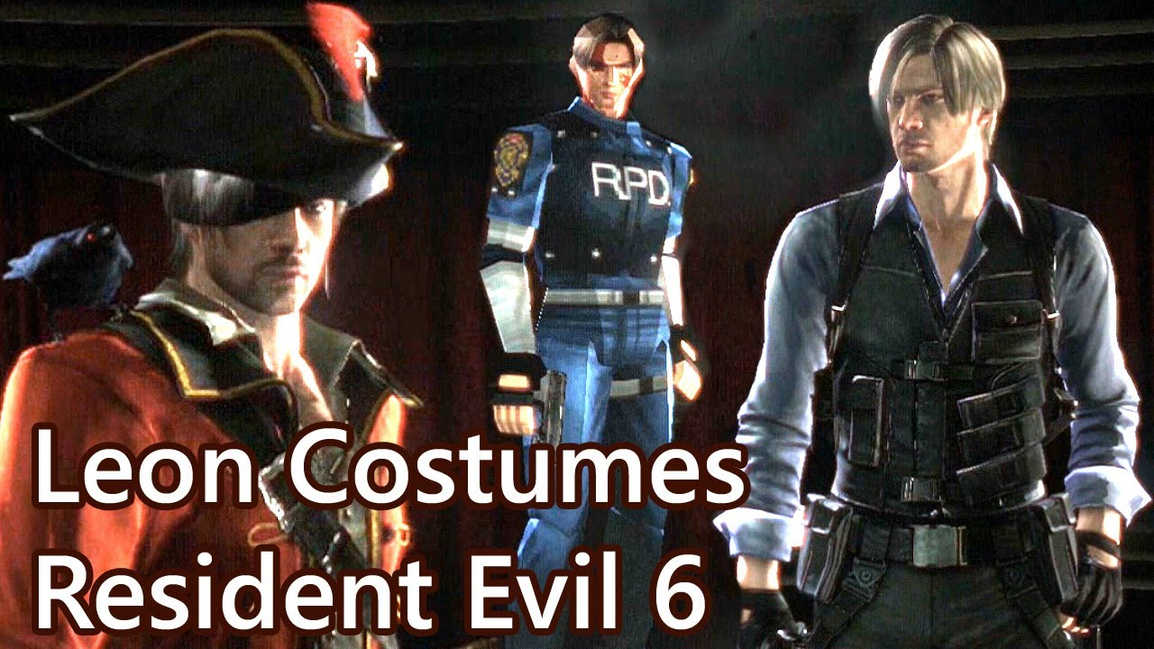 Resident Evil 6 Leon Ex3 And Other Mercenaries Costumes