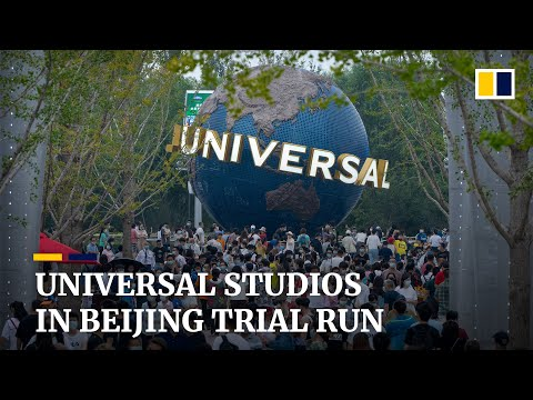 Universal Studios in Beijing packed with tourists as theme park starts trial run