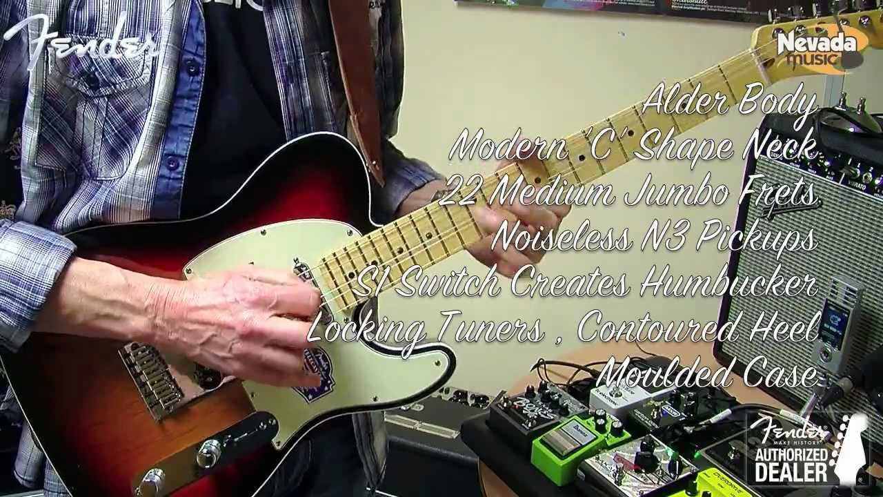 Fender American Deluxe Telecaster Sunburst Mn Demo