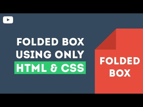 Folded Box - Only By Using HTML & CSS
