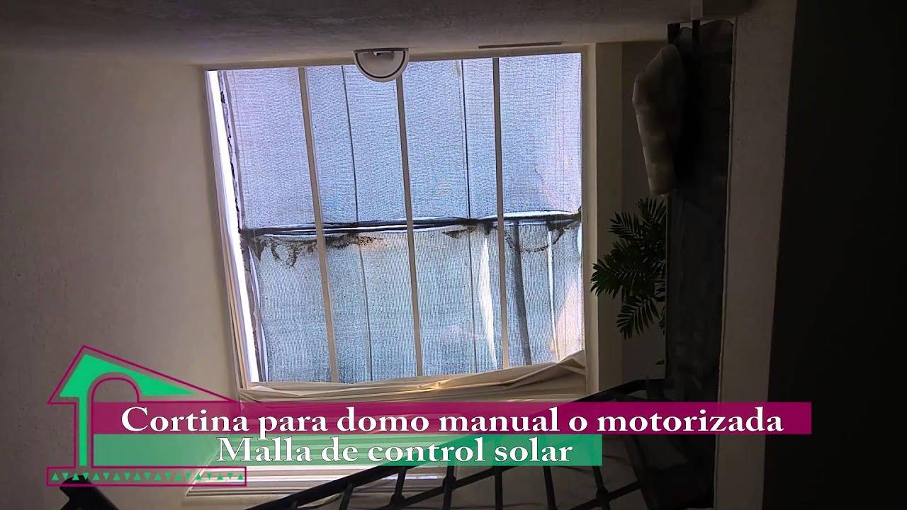 Cortina romana para domo techo youtube - Cortinas para tragaluz ...