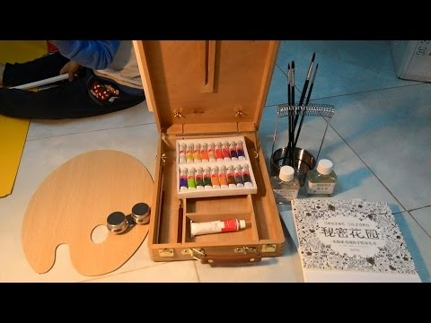 Unboxing Paintings Tool Set Box Canvas Frame Painting Oil