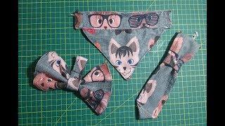 Köpek ve Kediler için Papyon Kravat yapımı (bow tie making)