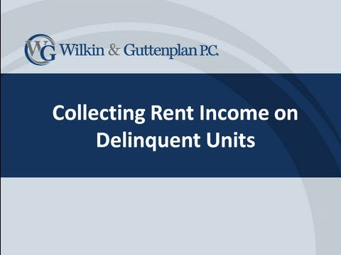 Collecting Rent Income on Delinquent Units
