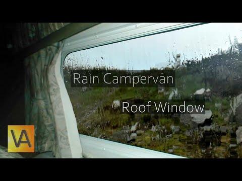 ☔Rain Hitting a Campervan Roof and Window from Inside (Tinnitus Masking, Sleep, Noise Blocking)