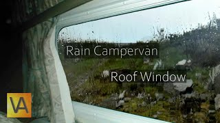 Rain Hitting a Campervan Roof and Window from Inside (Tinnitus Masking, Sleep, Noise Blocking)