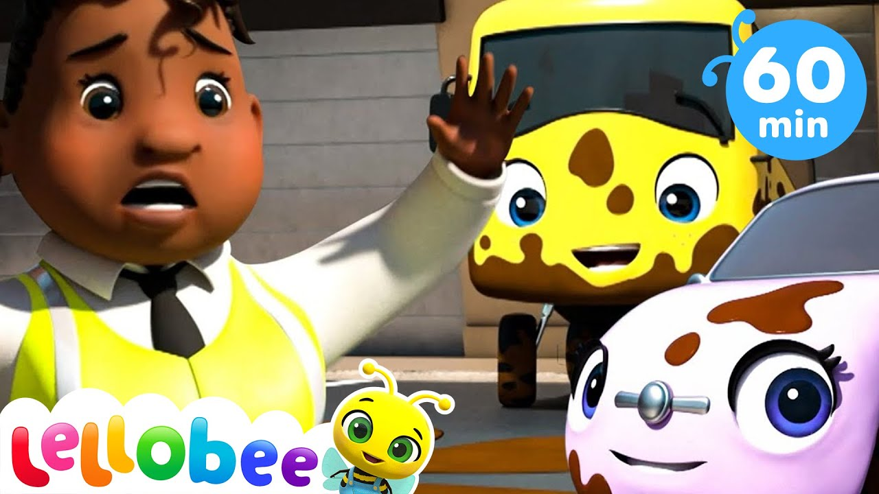 Muddy Buster - Carwash Song +More Nursery Rhymes & Kids Songs ABCs and 123s | Little Baby Bum