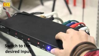 HDMI DVI Component Switcher