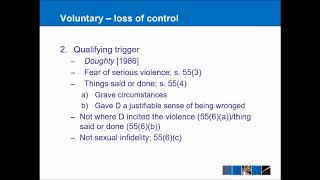 Criminal Law - Manslaughter