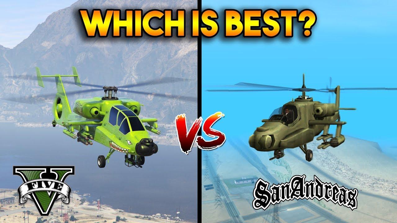Gta 5 Hunter Vs Gta San Andreas Hunter Which Is Best