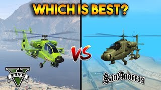 GTA 5 HUNTER VS GTA SAN ANDREAS HUNTER : WHICH IS BEST?