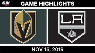 NHL Highlights   Golden Knights vs Kings - Nov. 16, 2019