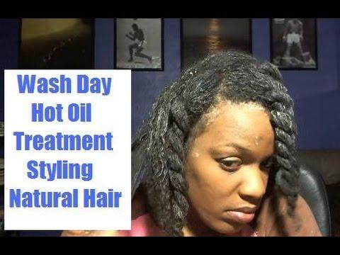 cleansing my natural hair with mud bentonite clay hot