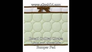 Bacati Quilted Circles Lime And Chocolate Crib Bed Set - A2zchild.com 1.avi