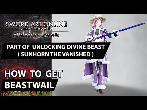 Sword Art Online: Alicization Lycoris - The Clandestine Beast (Beastwail) (Character Build) Guide  