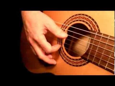 Erste leichte Fingerübung auf der Gitarre