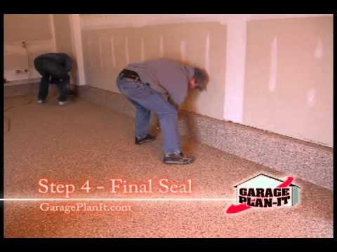 Roll-On Rock Epoxy Floor Coating - Step 4: Final Seal