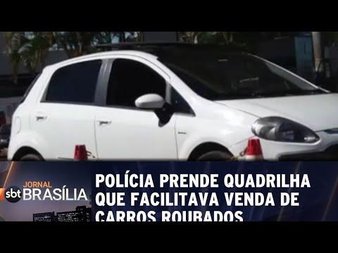 Polícia prende quadrilha que facilitava venda de carros roubados | Jornal SBT Brasília 20/06/2018
