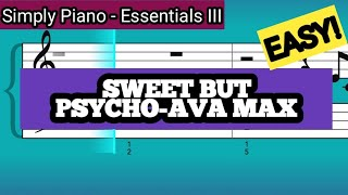 Simply Piano| Sweet But Psycho |Essentials III |Piano Tutorial