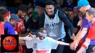 Team Giannis Player Introductions | Team LeBron vs Team Giannis | 2019 NBA All Star Practice