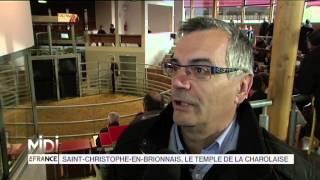 VU D'ICI : Saint Christophe en Brionnais, le temple de la Charolaise