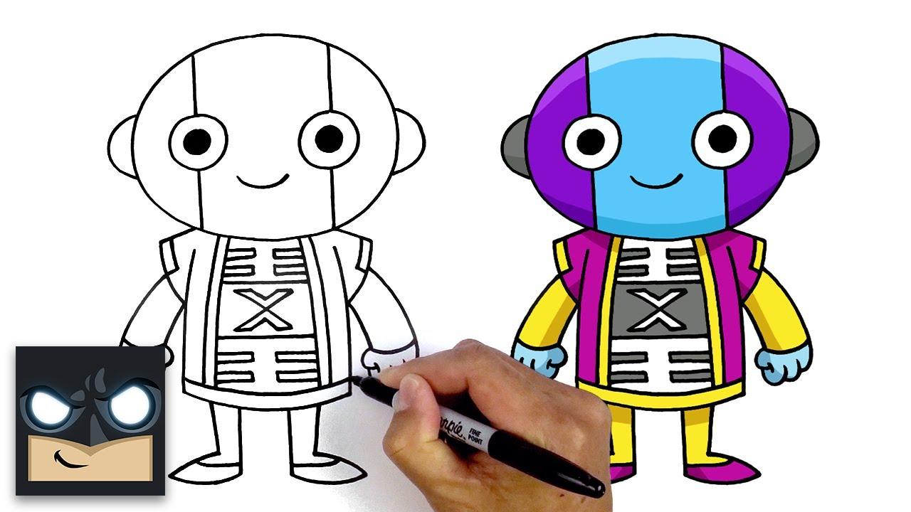 How To Draw Lord Zeno   Dragon Ball Super