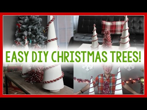 SIMPLE DIY CHRISTMAS TREES FROM CONES!