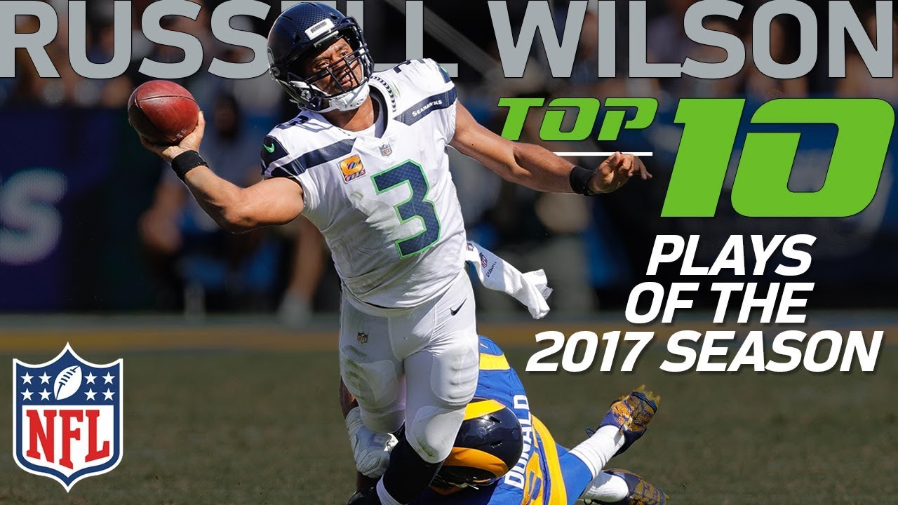 size 40 9c177 49352 Russell Wilson's Top 10 Plays of the 2017 NFL Season | NFL Highlights