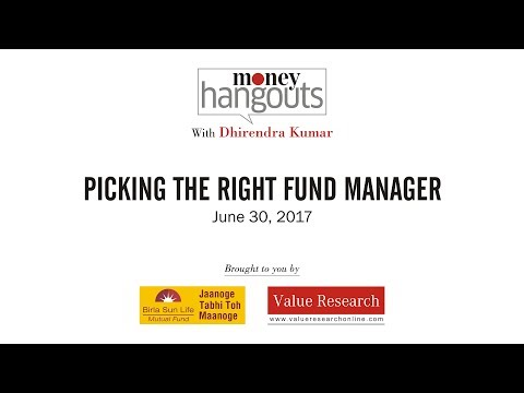 Picking the right fund manager