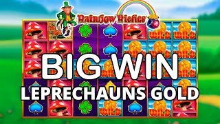 BIG WIN ON RAINBOW RICHES LEPRECHAUNS GOLD - BARCREST