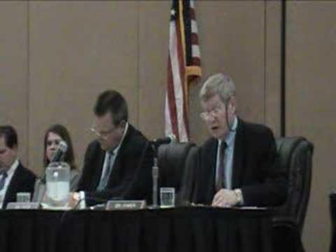 Sen. Tim Johnson chairing a field hearing in Sioux Falls SD
