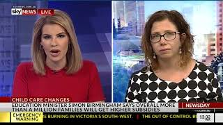Sky News - 18 January 2018 - Childcare changes
