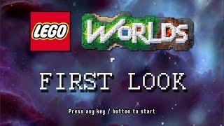 Lego worlds first look gameplay - open world sandbox lego game