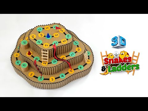 DIY 3D Snakes & Ladders Board Game From Cardboard