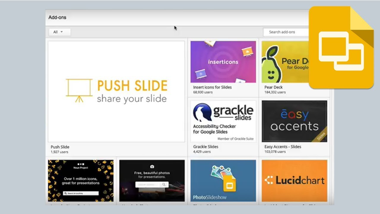 google slides how to quickly find the best add ons youtube