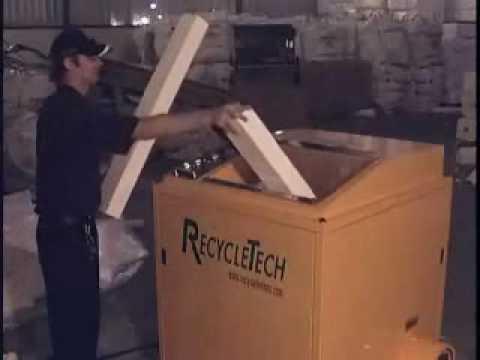 XT200 EPS Foam Densifier Available Thru Recycling Equipment Corporation