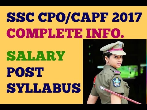 ssc cpo || complete information ||HOW TO PREPARE syllabus ,post and salary